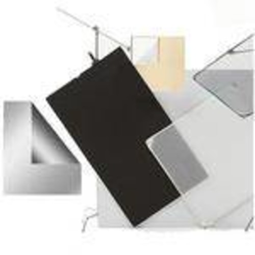 Panel Fabric ONLY for Aluminum Frame, Silver/Black - 42x42