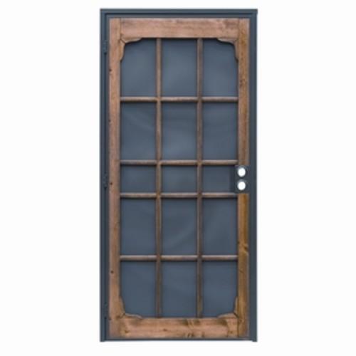 PRECISION Woodguard Oak Steel Security Door (Common: 82-in; Actual: 82-in)