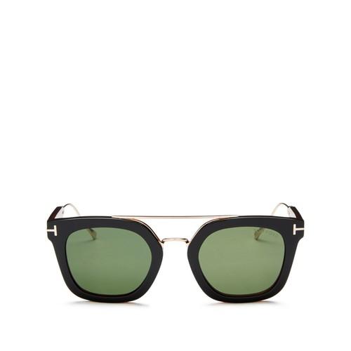 TOM FORD Alex Brow Bar Square Sunglasses, 50Mm