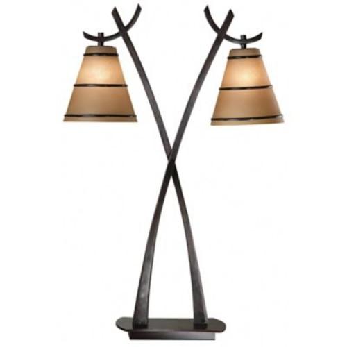 Kenroy Home Wright 2-Light Table Lamp in Bronze