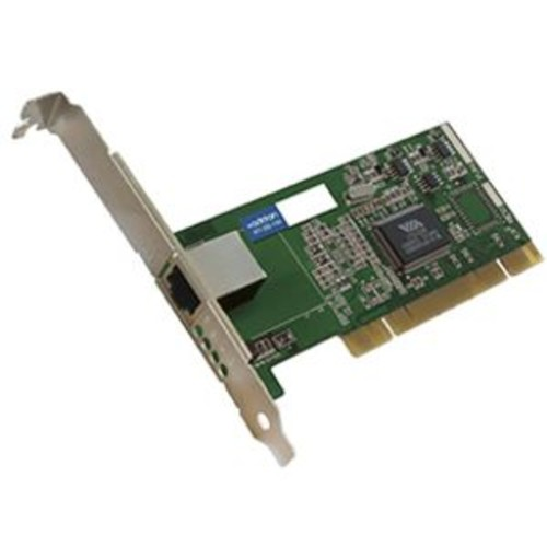 AddOn 10/100/1000Mbs Single Open RJ-45 Port 100m Copper PCI Network Interface Card