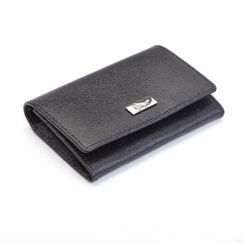 Royce RFID Blocking Saffiano Leather Business Card Case Wallet