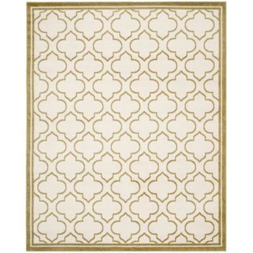 Safavieh Amherst Ivory/Light Green 8 ft. x 10 ft. Indoor/Outdoor Area Rug