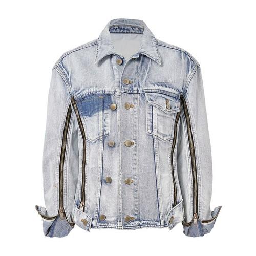 3.1 PHILLIP LIM Zippered Denim Jacket