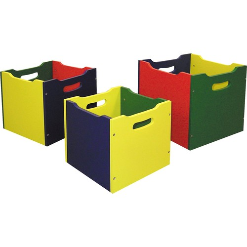 Ore Nesting Set of 3 Toy Boxes - Yellow/Red/Green