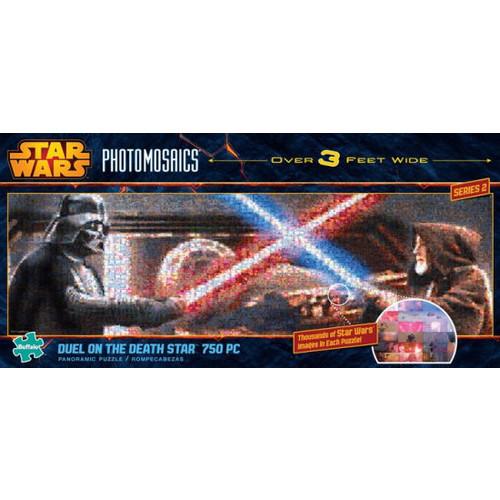 Star Wars 750 Panoramic - Light Sabre Duel Photomosaic Jigsaw Puzzle