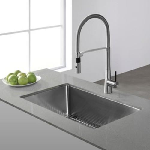 VIGO Rectangular Russet Glass Vessel Sink and Linus Faucet Set in Brushed Nickel Finish