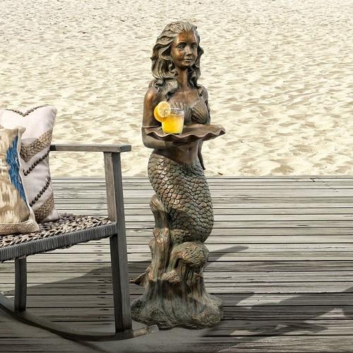 Bombay Outdoors Francesca Mermaid End Table - Indoor / Outdoor