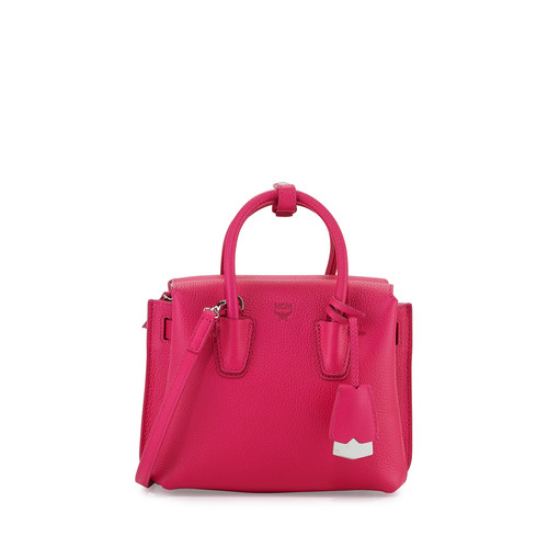 MCM Milla Mini Tote Bag, Beetroot Pink