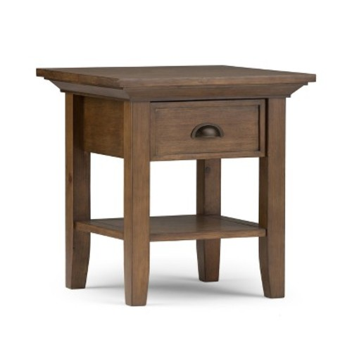 Redmond End Side Table - Rustic Natural Aged Brown - Simpli Home