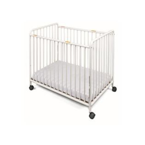 Foundations Compact Steel Non-Folding Crib, Slatted Ends Chelsea