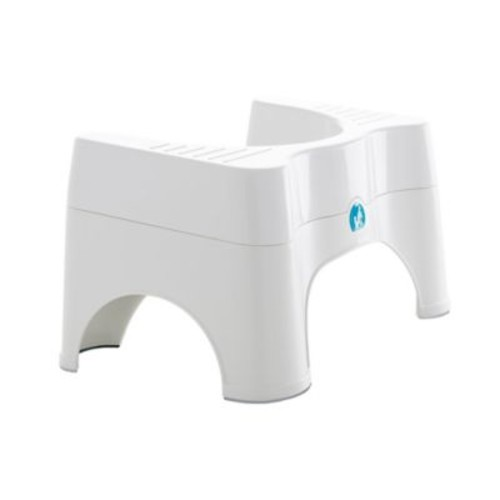 Squatty Potty Ecco 2 Adjustable Combo Toilet Stool in White