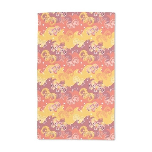 Born in Aries Sign Hand Towel (Set of 2)
