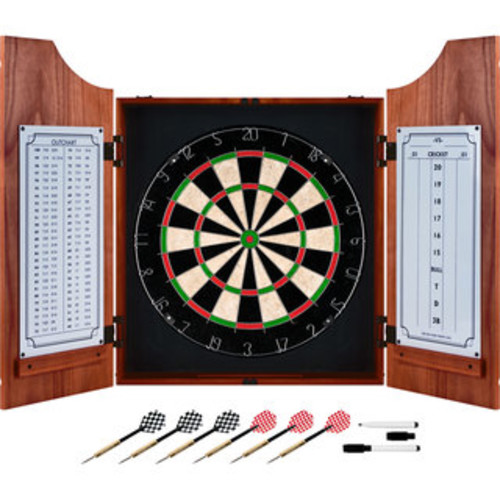 TG Solid Wood Dart Cabinet Set - Pro Style Board and Darts