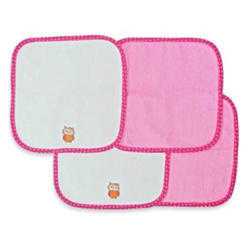 Neat Solutions 4-Pack Washcloth Set in Pink Owl