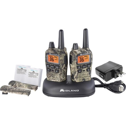Midland X-Talker T75VP3 Two-way Mossy Oak camo radio kit with charging dock