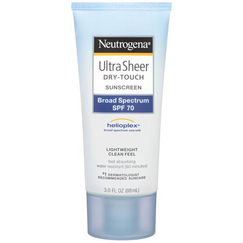 Neutrogena Dry-Touch Sunblock, Ultra Sheer, SPF 70, 3.0 fl oz (88 ml)