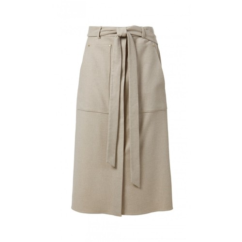 TIBI Owen Twill A-Line Skirt