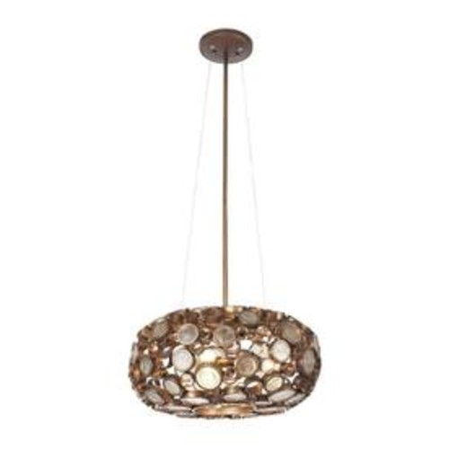 Varaluz Fascination 18-in W Hammered Ore Pendant Light with Shade