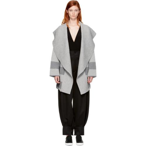 BURBERRY Grey Gorlan Coat