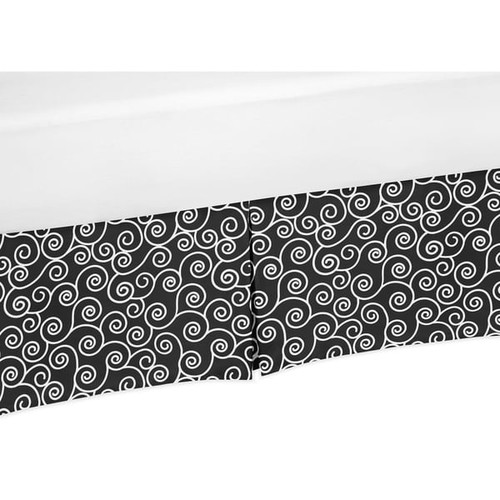 Sweet Jojo Designs Kaylee Collection Cotton Scroll Print Design Crib Bedskirt