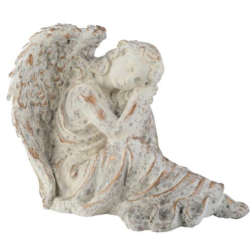 Off-white Resin Peaceful Angel Figurine
