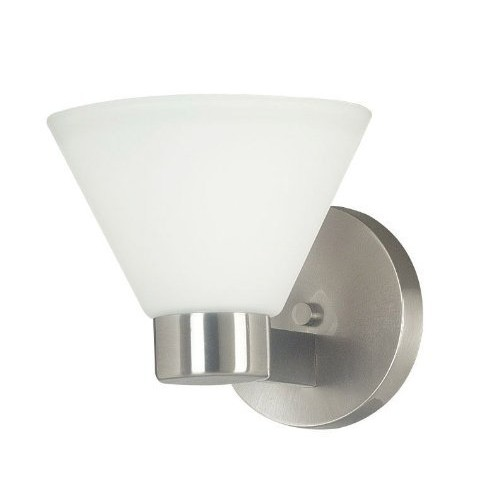 Kenroy Home 91791BS Maxwell 1 Light Sconce, Brushed Steel Finish [1-LIGHT]