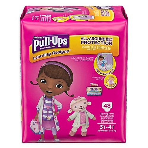 Pull-Ups Learning Designs 48-Count Disposable Girl's 3T-4T Training Pants
