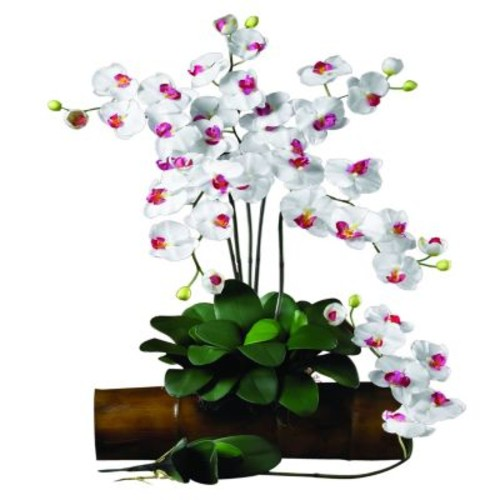 31.5 in. H White Phalaenopsis Stem (Set of 12)