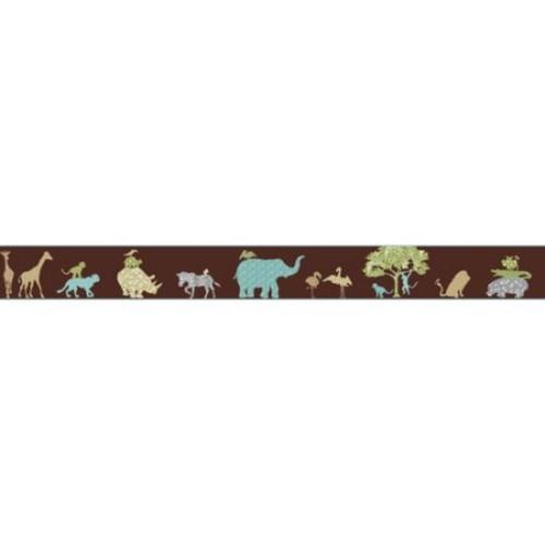 York Wallcoverings Kids Safari 15' x 9'' Animal Border Wallpaper