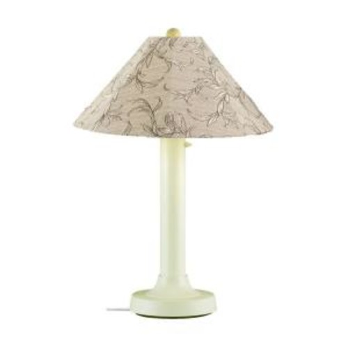 Patio Living Concepts Catalina 34 in. Bisque Outdoor Table Lamp with Bessemer Shade