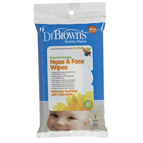 Dr. Brown's Infant's 30-Pack Nose & Face Wipes