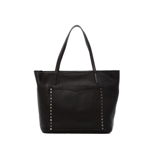 Unlined Front Pocket Leather Tote