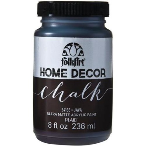 FolkArt Home Decor Ultra Matte Finish Chalk Acrylic Paint Colors by Plaid - Java, 8 oz.