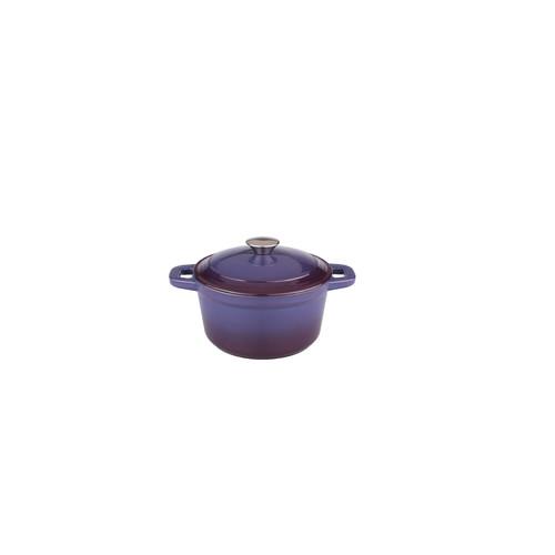 BergHOFF Neo 3qt Cast Iron Round Covered Dutch Oven Purple