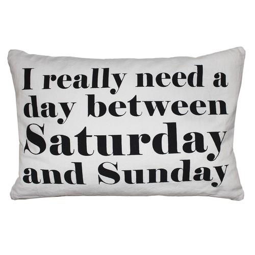 Park B. Smith Back Ease ''Saturday & Sunday'' Lumbar Oblong Throw Pillow