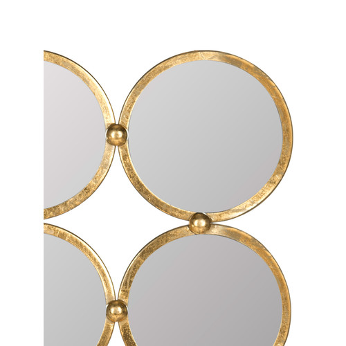 Circles in the Square Mirror by Safavieh | antique gold | Gilt