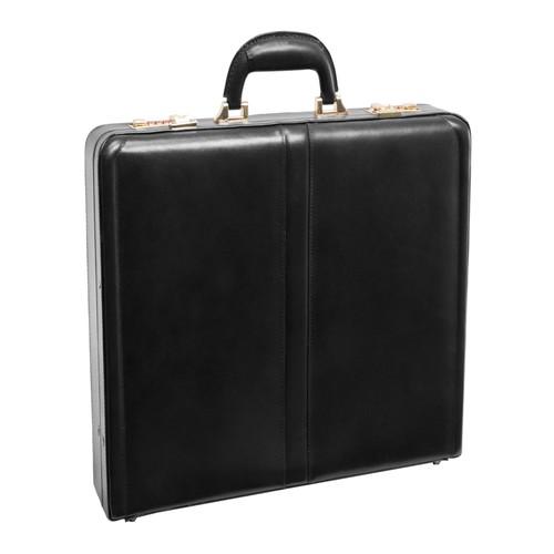 McKlein USA Reagan Leather Attache Case - Black