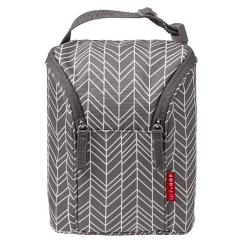 Skip Hop Grab & Go Double Bottle Bag - Grey Feather