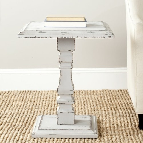Safavieh Coffee, Console, Sofa & End Tables Safavieh Angela Antiqued Grey Side Table