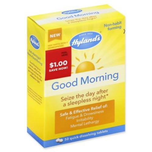 Hyland's 50-Count Good Morning Homeopathic Quick-Dissolving Tablets