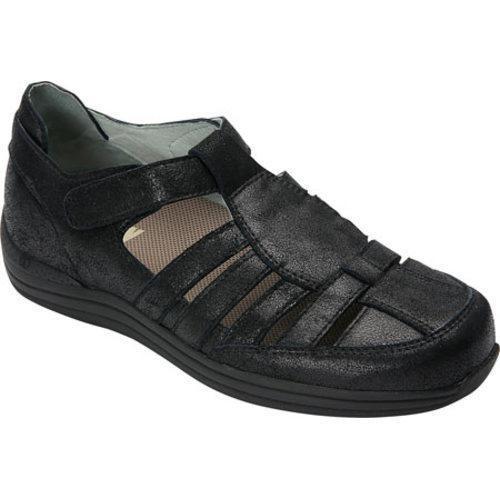 Women's Drew Ginger Fisherman Shoe Dusty Black Leather