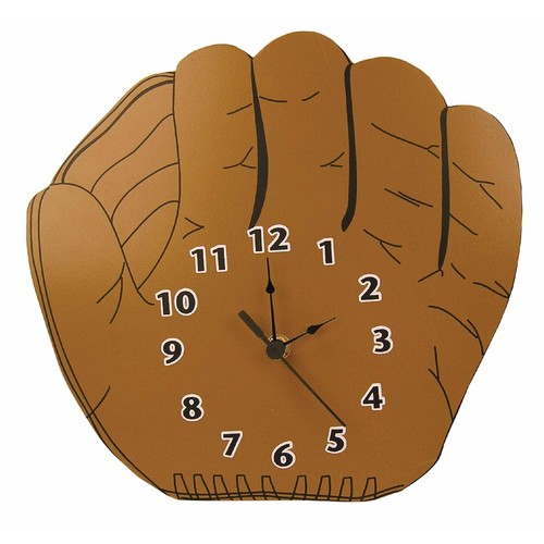 WALL CLOCK BASEBALL GLOVE