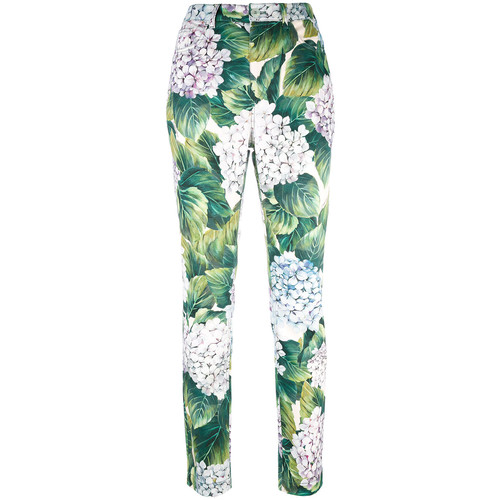 DOLCE & GABBANA Hydrangea Print Trousers