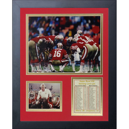 San Francisco 49ers 1984 Champs Framed Memorabili