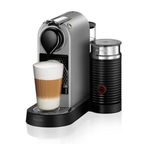 Nespresso by Breville CitiZ Espresso Maker Bundle with Aeroccino Frother in Silver