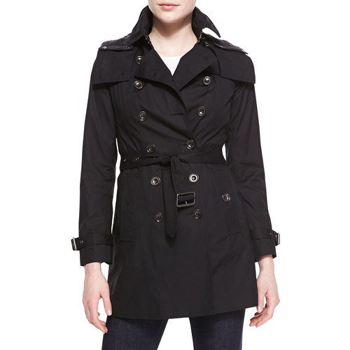 BURBERRY BRIT Reymoore Double-Breasted Hooded Trench Coat