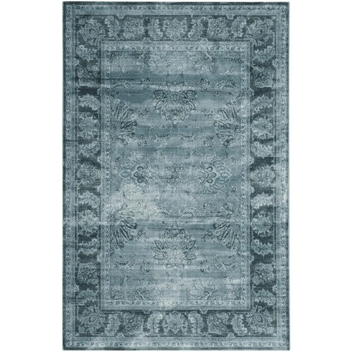Safavieh Vintage Oriental Light Blue/ Dark Blue Distressed Silky Viscose Rug (8' x 11')