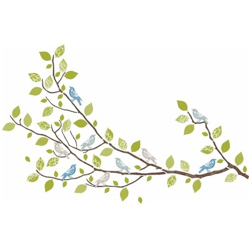 WallPops WPK96847 Sitting in a Tree Wall Art Kit by WallPops