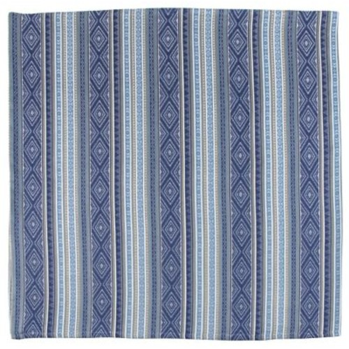Traders and Company Champlain 100pct Cotton Jacquard Tablecloth; Blue
